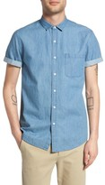 Topman Men's Washed Denim Shirt