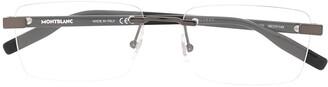 Montblanc Rimless Rectangular Frame Glasses