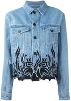 Filles a papa tribal embroidery denim jacket