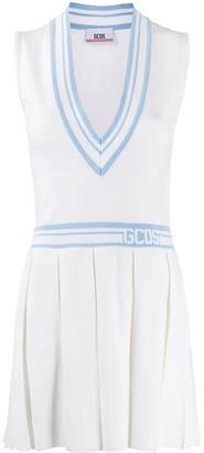 GCDS deep V-neck tennis dress