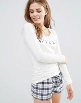 Jack Wills Glossop Long Sleeve Pajama Top