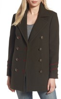 BCBGeneration Women's Wool Blend Military Peacoat