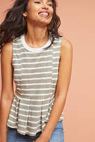 Anthropologie Striped Peplum Tank