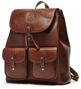 Ghurka Men's 'Blazer' Leather Backpack - Metallic