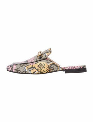 Gucci Princetown Bengal GG Supreme Mules Brown