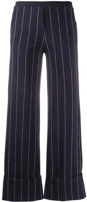 Le Petite Robe Di Chiara Boni Fred high-waisted pinstripe trousers