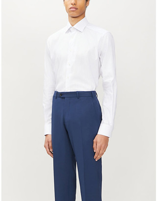 Eton Striped contemporary-fit cotton-twill shirt