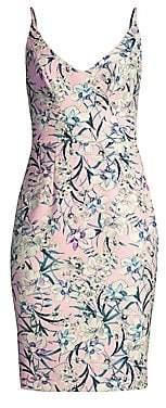 5aedf8e7 Black Halo Women's Jevette Floral Print Sheath Dress