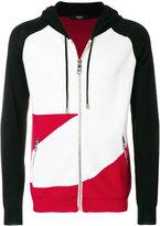 Versus panelled zip hoodie