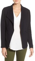 Caslon Petite Women's Cotton Knit Open Front Blazer