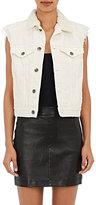 Helmut Lang Women's Fur Collar Trucker Vest-IVORY, WHITE, NUDE
