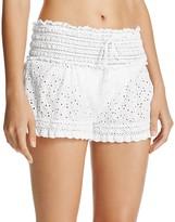 Ale By Alessandra Ibiza Eyelet Crochet Swim Cover-Up Shorts