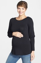 Maternal America Women's Drape Back Maternity Top