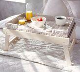 Pottery Barn Wood & Woven Breakfast Tray