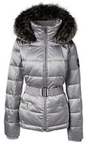 Lands' End Women's Plus Size Hooded Down Jacket-Purplette Heather