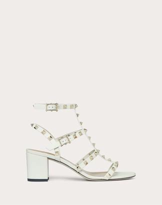Valentino Rockstud Calfskin Ankle Strap Sandal 60 Mm Women Light Ivory Calfskin 100% 38