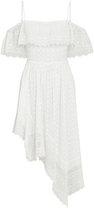 Etoile Isabel Marant Timoria Embroidered Asymmetrical Dress