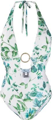 Blumarine Floral-Print One-Piece Swimsuit