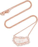 Kimberly McDonald - 18-karat Rose Gold, Pearl And Diamond Neklace - one size