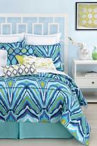 Trina Turk Blue Peacock King Comforter & Sham 3-Piece Set - Blue
