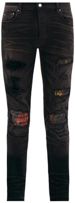 Amiri Mx1 Printed Distressed Jeans - Mens - Black