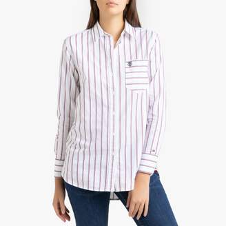 Tommy Hilfiger Striped Cotton Long-Sleeved Shirt