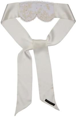 Kiki de Montparnasse Beaded Lace & Satin Blindfold