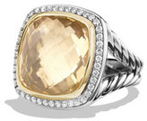 David Yurman Albion Ring with Champagne Citrine and Diamonds