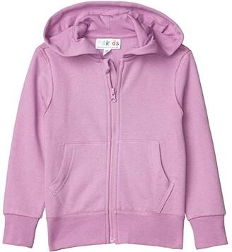 #4kids Essential Zip Front Hoodie (Little Kids/Big Kids) (Heather Grey) Kid's Clothing