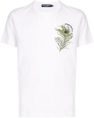 Dolce & Gabbana peacock feather print T-shirt