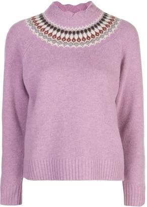 Sea fair isle knitted jumper