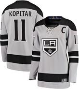Women's Fanatics Branded Anze Kopitar Gray Los Angeles Kings Alternate Breakaway Player Jersey