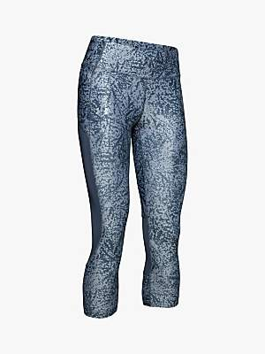 Under Armour Speed Stride Printed Capri Running Tights, Downpour Grey