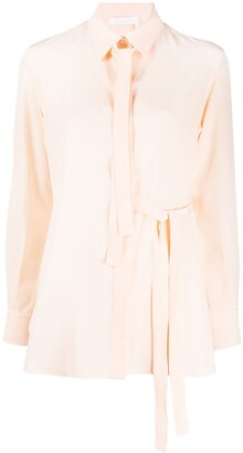 Chloé Pussy Bow Detail Tied Waist Blouse
