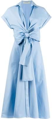 Silvia Tcherassi Front Bow Chambray Dress