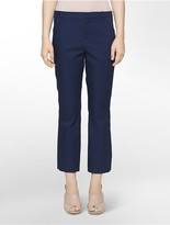 Calvin Klein Solid Stretch Cropped Pants