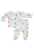 Infant Girl's Rosie Pope Dancing Girls Kimono Top & Footed Pants Set