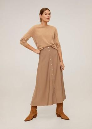 MANGO Button long skirt brown - 4 - Women