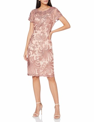Gina Bacconi Women's Loreena Embroidered Dress Mother of The Bride