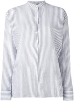 Vince mandarin neck striped shirt