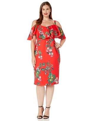 Rachel Roy Women's Plus Size Printed Marcella Dress