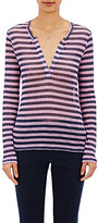 Barneys New York Women's Striped Long-Sleeve T-Shirt-NAVY, PINK