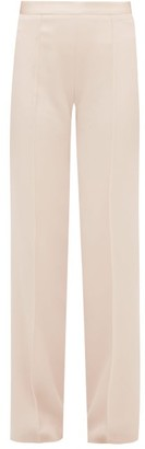 Pallas Paris Eclair Satin-striped Crepe Trousers - Light Pink