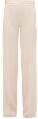 Pallas X Claire Thomson Jonville X Claire Thomson-jonville - Eclair Satin-striped Crepe Trousers - Womens - Light Pink