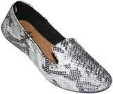 Dawgs Women's Kaymann Exotic Smoking Slippers Black Snake Print and Wht