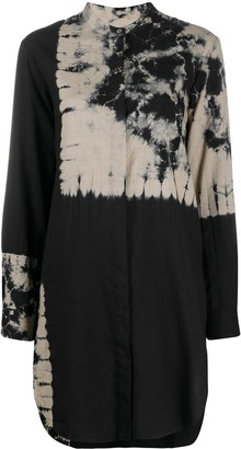 Suzusan Tie-Dye Print Longline Shirt