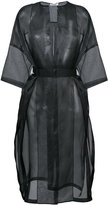 Jil Sander sheer Dalmazia coat - women - Silk - 34