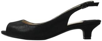 J. Renee Satin Low Heel Pumps - Jenvey