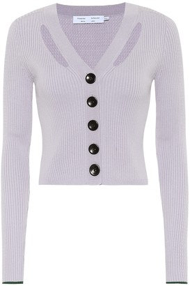 Proenza Schouler White Label Silk and cotton cropped cardigan