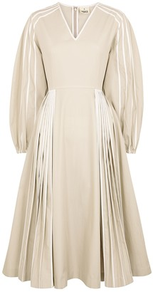 BODICE Cream Cotton Midi Dress